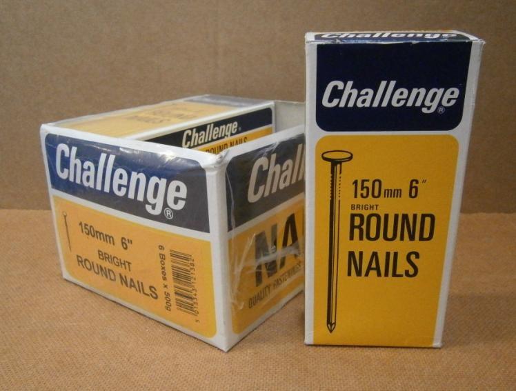 "150mm(6"")    ROUND NAILS x 6 -"