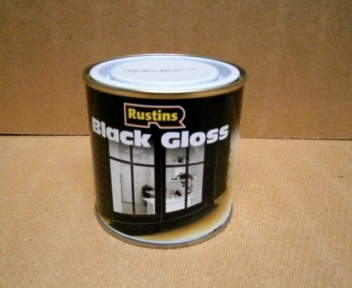 GLOSS PAINT BLACK  Q/D   250ML
