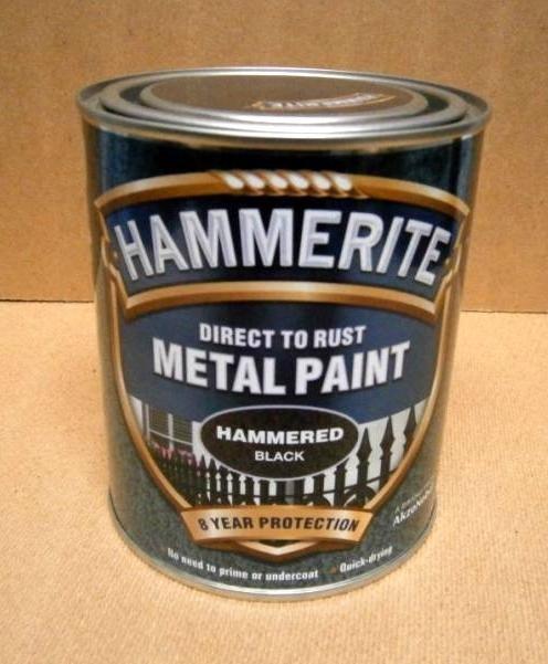 HAMMERITE 750ml BLACK HAMMERED
