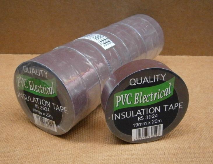 PVC TAPE 19mm x 20M      BROWN