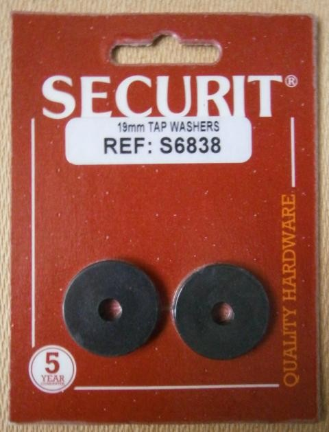 """TAP WASHER 19mm  3/4"""" SECURIT"""