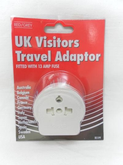 TRAVEL ADAPTOR UK VISITORS *