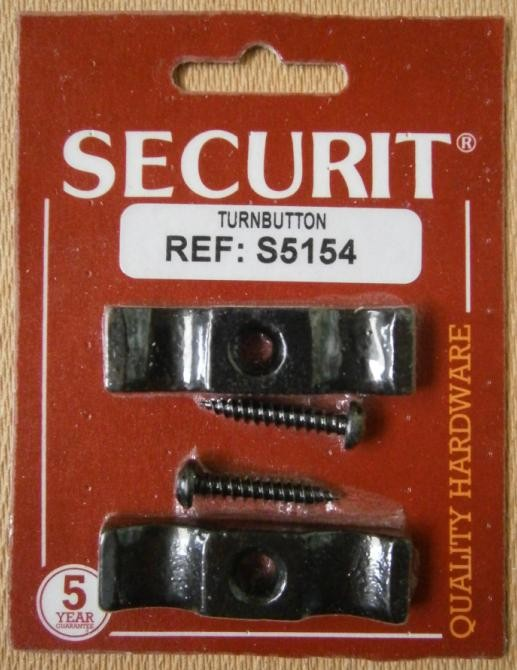 "TURNBUTTON BLACK   2"" SECURIT"