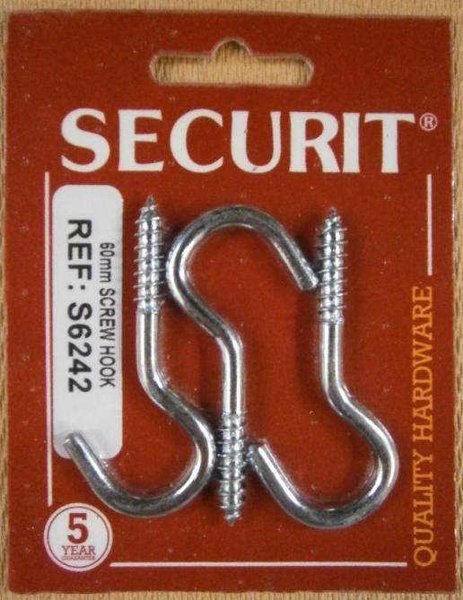 Z.P.SCREW HOOK 60mm SECURIT