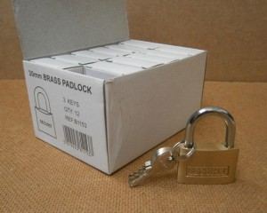BRASS PADLOCK 3 KEYS 30mm SECURIT