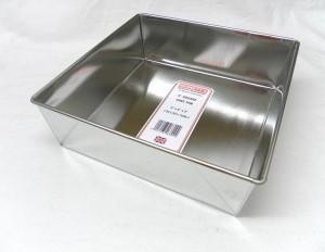 """CAKE PAN SQR L/B 23x23x7cm 9"""""""