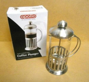 COFFEE PLUNGER GLASS/S.STEEL
