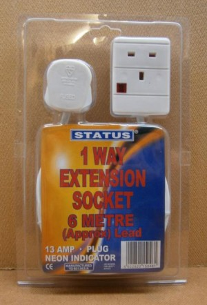 EXT.SOCKET 1 WAY 6M          D