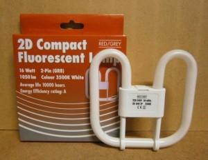 F/LAMP 2D 16 WATT 2 PIN