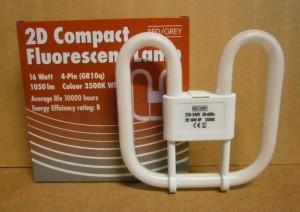 F/LAMP 2D 16 WATT 4 PIN      D