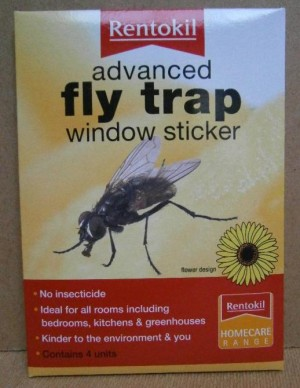 FLY TRAP WINDOW STICKER RENTOKIL