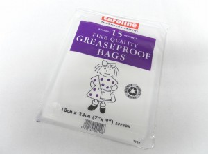 GREASEPROOF BAGS 18x23cm 15PK