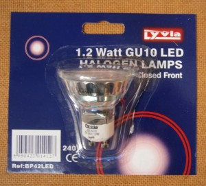 HALOGEN LAMPS 1.2W GU10 LED  D
