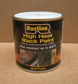 HIGH HEAT BLK PAINT MATT 250ml