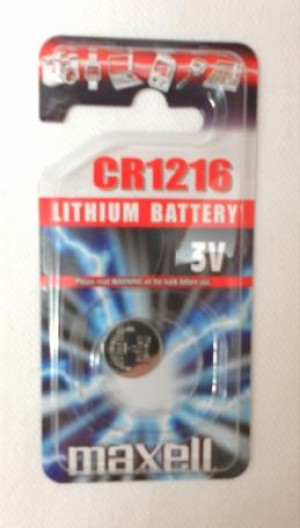 LITHIUM BATTERY CR1216 MAXELL