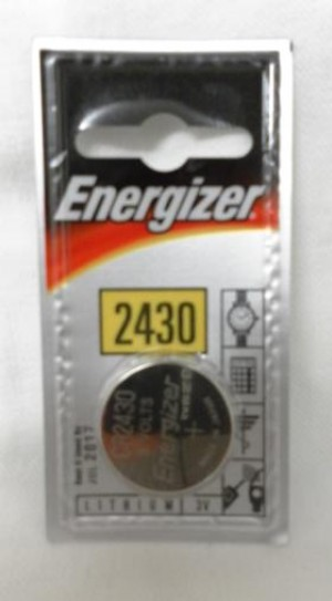 LITHIUM BATTERY CR2430 ENERGIZ