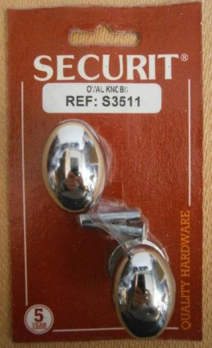 OVAL KNOBS C.P. 35mm SECURIT