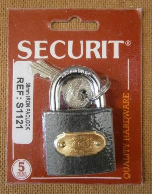 PADLOCK TRICIRCLE 38mm SECURIT