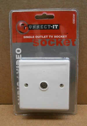 SINGLE OUTLET T.V.SOCKET AV283