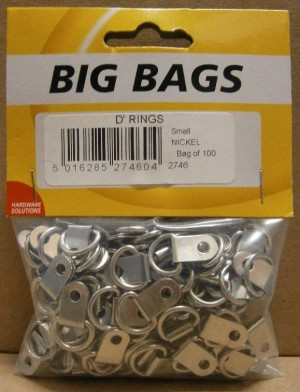 SMALL D RINGS NICKEL