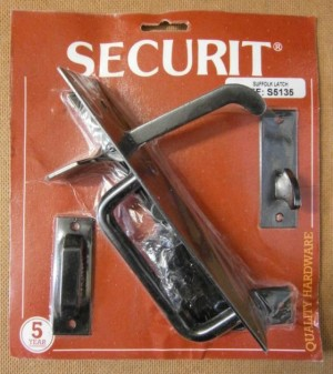 SUFFOLK LATCH BLACK 180mm SECURIT