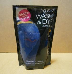 WASH & DYE JEANS BLUE