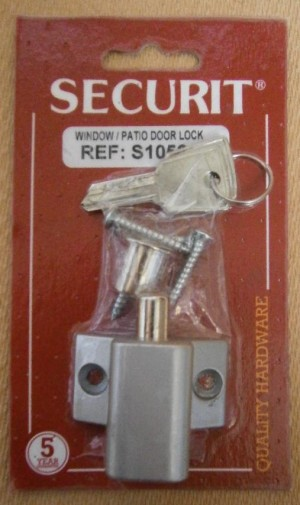 WINDOW/PATIO DOOR LOCK ALUM SECURIT