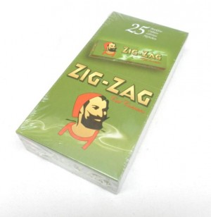 ZIG ZAG PAPERS GREEN 25