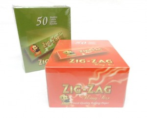 ZIG ZAG PAPERS KING SIZE GREEN