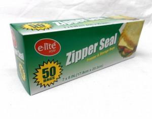 ZIPPER SEAL BAG 17.8 x 20.3cm
